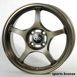 15 Rota Attack Orange Rims Wheels Integra Miata Civic