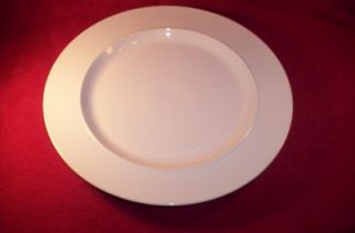 DANSK CHINA CAFE BLANC WHITE RIM, SMOOTH NO TRIM CHOP PLATE NEW