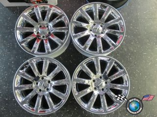 Chrysler 300 300C Factory Chrome Clad 18 Wheels Rims OEM 2418 Charger