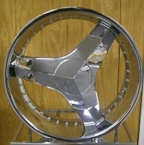 20 inch Rims and Tires Wheels Starr 357 Killa Triple Chrome Nissan 22