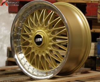 18x8 Str 606 RS 5x114 3 Gold Wheel Fit Sienna Lexus IS250 IS300 Fusion