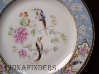 Hutschenreuther China Bird of Paradise Pattern Salad Plate