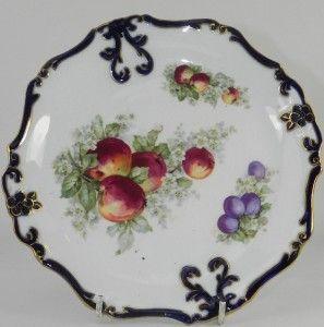 Staffordshire Porcelain Dessert Plate Fruit Design C1910
