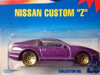 Hot Wheels Blue Card Nissan Custom Z Gold Lace Wheel