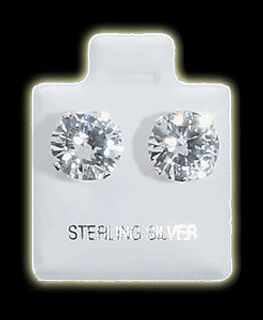 2mm 10mm CZ Stud Earrings 925 Sterling Silver Jewelry