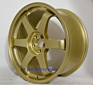 17 Rota Wheels 17x8 Grid 5x100 +35 Gold Corolla 99 05 Golf Jetta