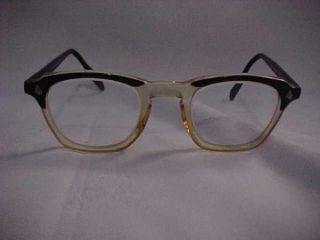 American Optical AO Horn Rim Mid Century Vintage Glasses 48 24 Mint
