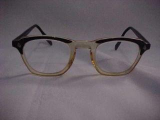 American Optical AO Horn Rim Mid Century Vintage Glasses 48 24 Mint
