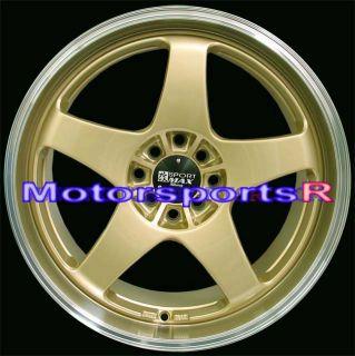 XXR 962 Gold Machine Lip Staggered Rims Wheels Nissan 240sx S13