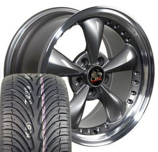Anthracite Bullitt Bullet Wheels 4 Deep Rims ZR Tires Fit Mustang® GT