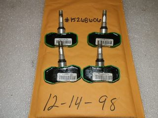Set of Four 4 Chevy Corvette Impala DTS Uplander TPMS Tire Pressure