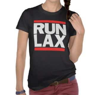 RUN LAX LA Los Angeles CA California Cali Black Shirt