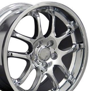 Chrome Infiniti G35 Coupe Wheels Staggered Rims Fit Infiniti