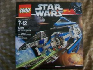 LEGO Star Wars Tie Interceptor 6206 Missing Pieces With Instructions