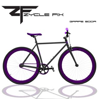 Gear Bike Fixie Bike Road Bicycle 48 cm w Deep Rims Grape Soda