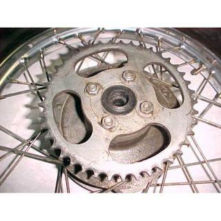 76 Yamaha GT80 GT 80 Rear Wheel Rim Tire Good