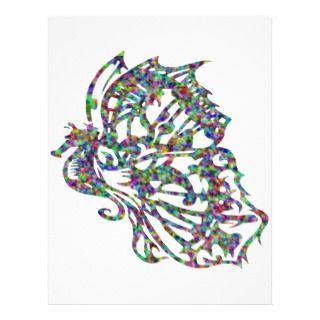 Seahorse w/ Butterfly Wings Letterhead Design