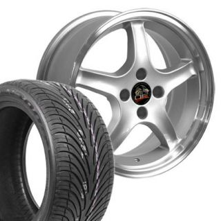 Silver Cobra R Wheels Nexen Tires Rims Fit Mustang® 94 04