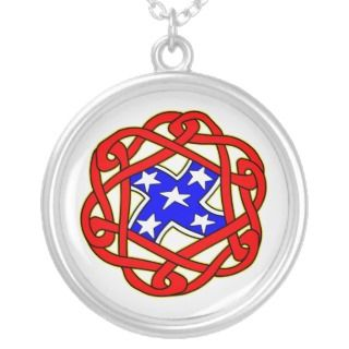 Celtic Knot Rebel Flag Tattoo Necklace