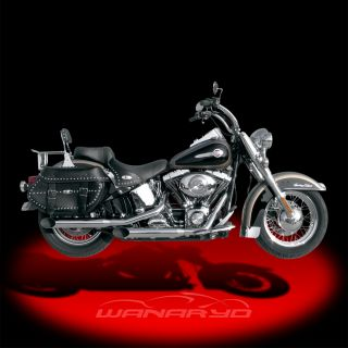 inch HP Plus Slant Cut Slip on Mufflers for 2000 2006 Harley Softail