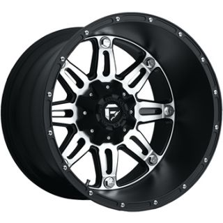 20x14 Machined Black Wheel Fuel Hostage 6x135 6x5 5