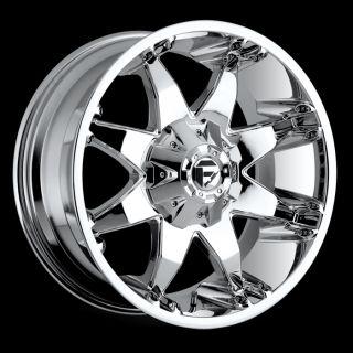20 x9 Fuel Octane Chrome 5x5 w 20 Et D5082905757 Wheels Rims