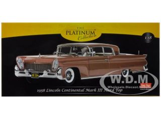 1958 Lincoln Continental Mark III Hard Top Copper Poly 1 18 by Sunstar