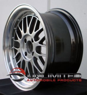 LM Style Hyper Black Wheels Rims Fit Nissan Datsun 240 260 280z