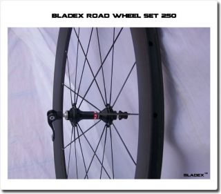 Bladex Road Wheel Set 250C Affordable Durable Full Carbon Wheels 50mm