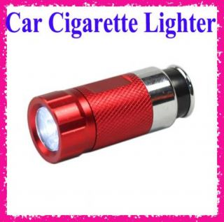 Car Cigarette Lighter Rechargable LED Flashlight Torch 12V Output