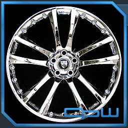 Model Jaguar XF Senta II Chrome Wheels Rims Tires Package New