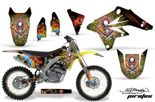 AMR Racing MX Number Plate Background Deco Kit Suzuki RMZ 250 07 09 Ed