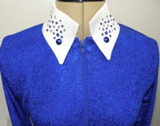 1849 Ranchwear Horse Show Hobby Rail Shirt Blue White Small s Tack New