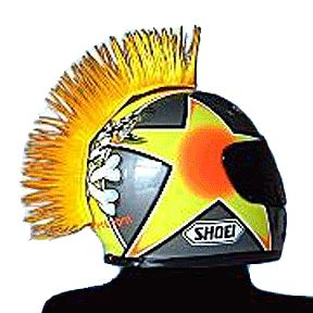 Motorcycle Helmet Mohawk Yellow motox ATV Bike Helmets Hairy Rs