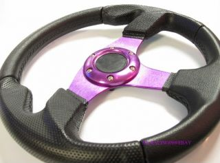 is for A brand new 320mm Racing Steering wheels in Anodized Purple