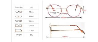 Fashion Retro Vintage Full Rim Eyeglass Metal Alloy Frame SW301