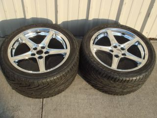Mustang Saleen Chrome Wheels and Michelin 285 35 18 97Y Tires