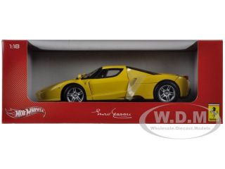Ferrari F60 Enzo Yellow 1 18 Diecast Car Model by Hotwheels C1550