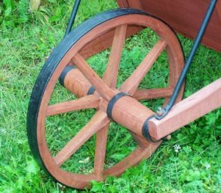 Wheelbarrow Planter Rustic Rock Solid Apples