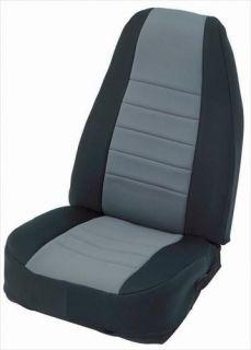 Smittybilt 47322 80 95 Jeep Wrangler Neoprene Seat Covers Rear Black