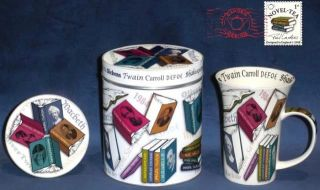 Novel Tea 14 oz Porcelain Mug Coaster Tin Set Paul Cardew Design