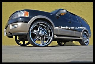 22inch Diablo Wheels and Tires Rims 300C Magnum Charger Challenger
