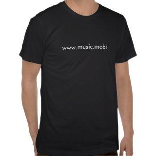 www.music.mobi Tight Black T Shirt