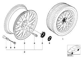 BMW BBs 6 5J 15 320i 323i Alloy Wheel Rim 36111095336