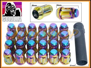 Tuner Lock Lug Nut 12x1 5 1 5 Acorn Wheels Rims Neo CR Close T