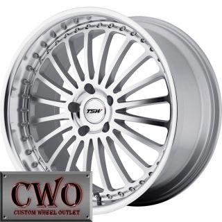 18 Silver TSW Silverstone Wheels Rim 5x100 5 Lug VW Jetta Golf GTI