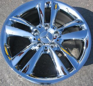 FACTORY MERCEDES CLK350 SLK280 OEM CHROME WHEELS RIMS EXCHANGE STOCK