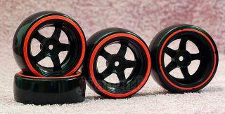 New 4X 1 10 RC Car Wheel Rim Drift Tyre Tire BB11A