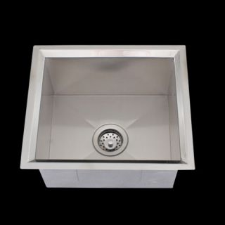 Undermount Stainless Steel Square Bar Kitchen Sink 16g