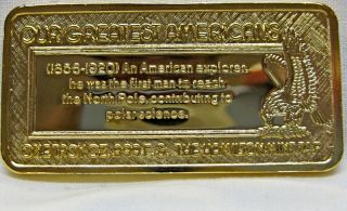 24 KT Gold Plated 1 Troy oz 999 Fine Silver Art Bar The Hamilton Mint